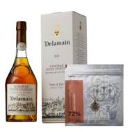 Cognac Delamain Pale and Dry XO és Harrer Madagascar 72% csokoládé (0,7 l, 40%)