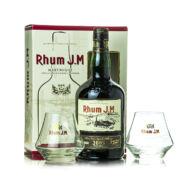 Rum JM Vintage 2005 Ajándékcsomag 2 pohárral (0,7 l, 43,8%)