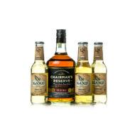 Rum Chairman's Reserve Spiced + 4 db J.Gasco Ginger Ale (0,7 l +4X0,2 l, 40%)