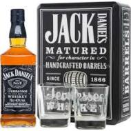 Jack Daniel's Black Label Fémdobozban 2 pohárral (0,7 l, 40%)