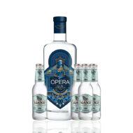 Gin Opera + 4 db J.Gasco Tonic Dry Bitter (0,7 l+4X0,2l, 44%)