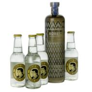 Gin Bobby's + 4 db Thomas Henry Tonic (0,7 l +4X0,2 l, 42%)