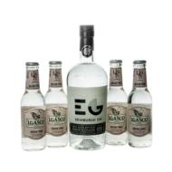 Gin Edinburgh Dry + 4 db J.Gasco Indian Tonic (0,7 l +4X0,2 l, 43%)
