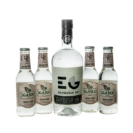 Gin Edinburgh Dry + 4 db J.Gasco Indian Tonic (0,7 l +4X0,2 l, 43%)