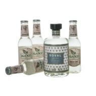 Gin Koval + 4 db J.Gasco Indian Tonic (0,5 l +4X0,2 l, 47%)