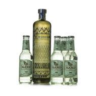 Gin Bobby's + 4 db J. Gasco Dry Bitter Tonic (0,7 l+4X0,2 l, 42%)