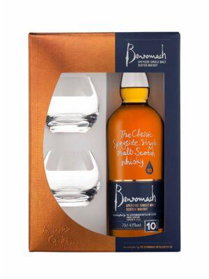 Benromach 10 éves ajándékcsomag 2 pohárral (0,7 l, 43%)