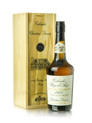 Calvados Christian Drouin 1975 fadobozban (0,7 l, 42%)