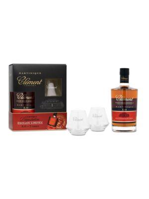 Rum Clement XO 6 éves Ajándékcsomag 2 pohárral (0,7 l, 42%)