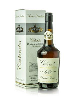 Calvados Christian Drouin 40 éves (0,7 l, 40%)