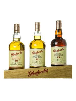 Glenfarclas - 3 üveges válogatás állvánnyal (3*0,7 l, 40%, 43%, 46%)