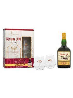 Rum JM VSOP Ajándékcsomag 2 pohárral (0,7 l, 43%)