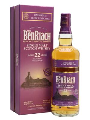 BenRiach 22 éves Dark Rum Finish (0,7 l, 46%)