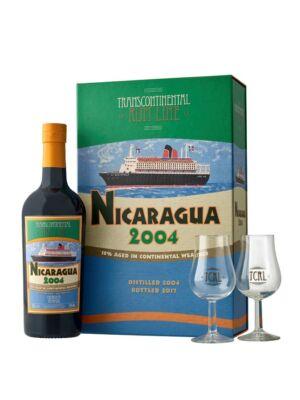 Rum Nicaragua Transcontinental Rum Line 2004 2 pohárral (0,7 l, 43%)