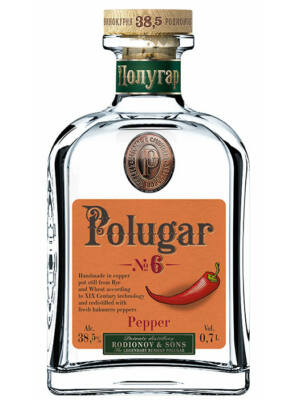 Vodka Polugar N.6 - Pepper (0,7 l, 38,5%)