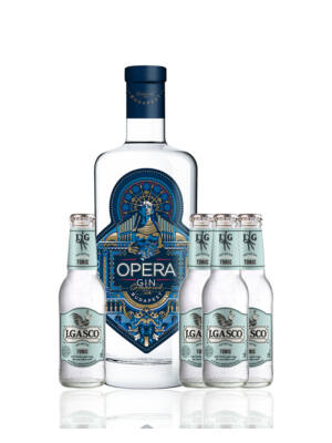 Opera Gin és 4 db J.Gasco Dry Bitter Tonic