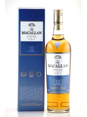 Macallan 12 éves Fine Oak (0,7 l, 40%)
