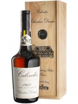 Calvados Christian Drouin 1969 fadobozban (0,7 l, 40%)