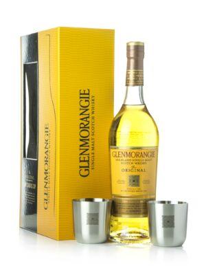 Glenmorangie 10 éves Original Díszdobozban + 2 Fémpohárral (0,7 l, 40%)