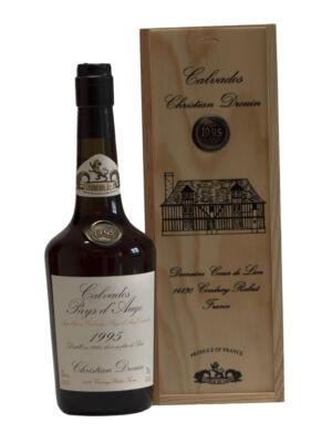 Calvados Christian Drouin 1995 fadobozban (0,7 l, 42%)