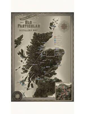 Old Particular Skócia Lepárló Térkép