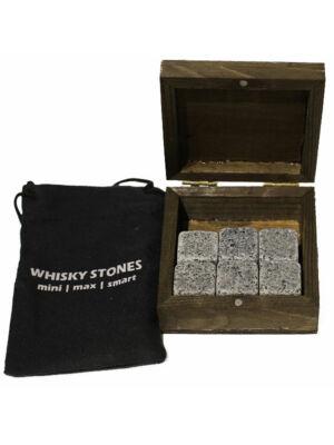 Whisky Stones - gránit hűtőkocka fadobozban