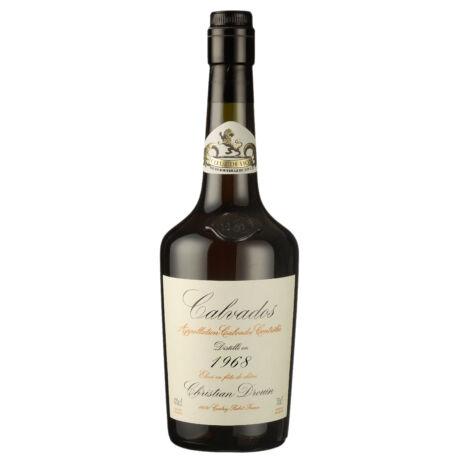 Calvados Christian Drouin 1968 fadobozban (0,7 l, 40%)