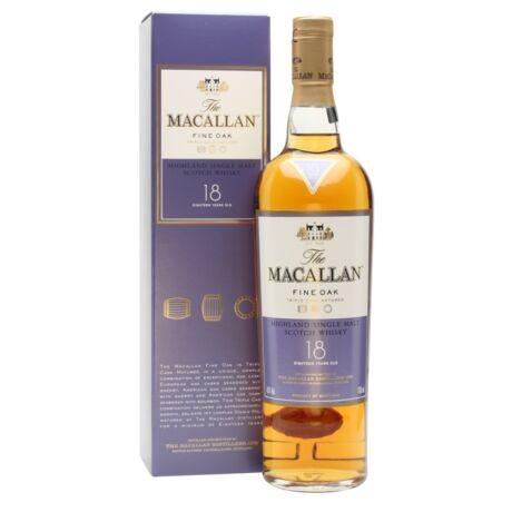 Macallan 18 éves Fine Oak (0,7 l, 43%)