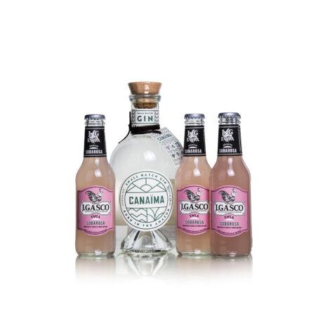 Gin Canaima + 4 db J.Gasco Sodarosa Evia