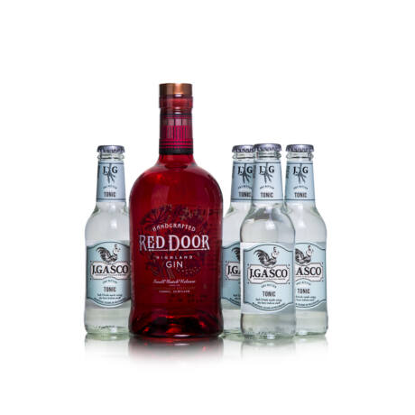 Gin Red Door + 4 db J.Gasco Dry Bitter Tonic