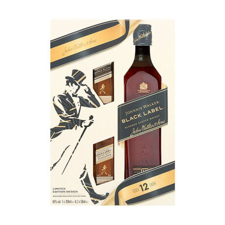 Johnnie Walker Black Label + Double Black és Gold mini