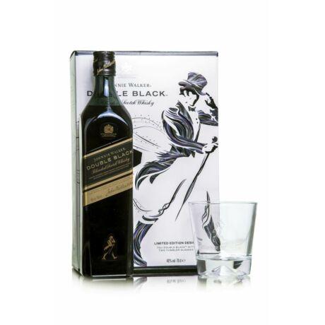Johnnie Walker Double Black ajándékcsomag 2 pohárral