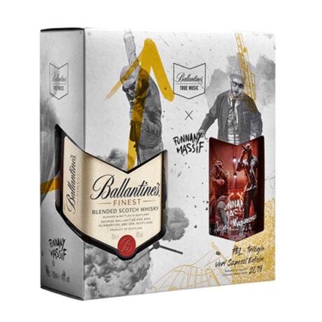 Ballantine's díszdobozban + 2 pohár (Punnany Massif Edition)