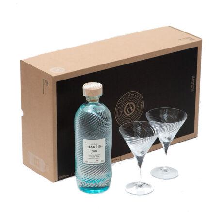 Gin Isle of Harris Ajándékcsomag 2 Martinis pohárral