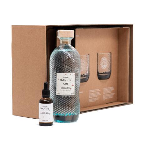 Gin Isle of Harris Ajándékcsomag 2 pohárral és aromavízzel