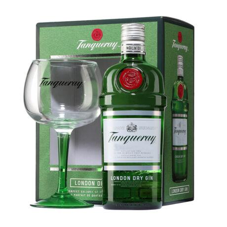 Gin Tanqueray Ajándékcsomag pohárral