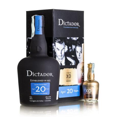 Rum Dictador 20 éves és Rum Dictador xo mini