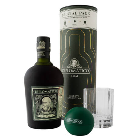 Rum Diplomatico Exclusiva Tall Canister Old Fashioned pack